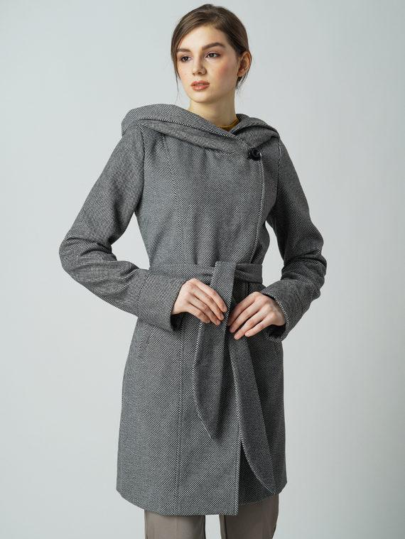 Текстильное пальто 30%шерсть, 70% п\а, цвет черный, арт. 18005856  - цена 4260 руб.  - магазин TOTOGROUP