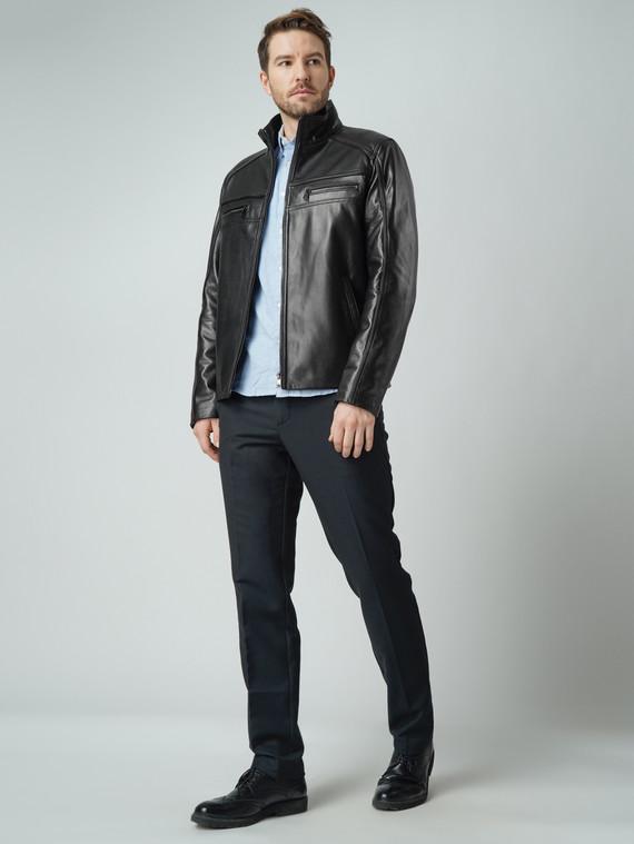 Кожаная куртка кожа баран, цвет черный, арт. 18005859  - цена 12690 руб.  - магазин TOTOGROUP