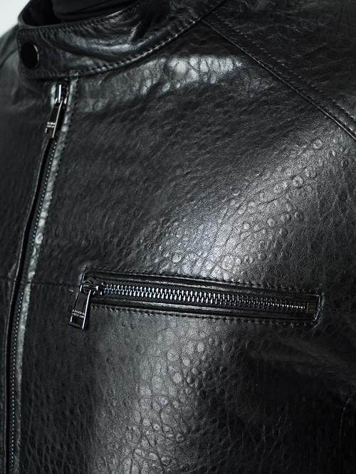 Кожаная куртка артикул 18005861/46 - фото 4
