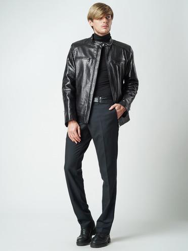 Кожаная куртка кожа баран, цвет черный, арт. 18005861  - цена 8490 руб.  - магазин TOTOGROUP