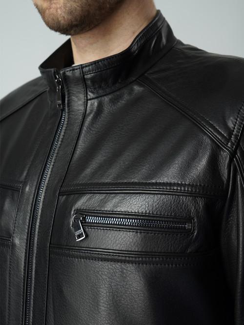 Кожаная куртка артикул 18005865/46 - фото 4