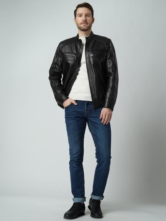 Кожаная куртка кожа баран, цвет черный, арт. 18005865  - цена 11990 руб.  - магазин TOTOGROUP
