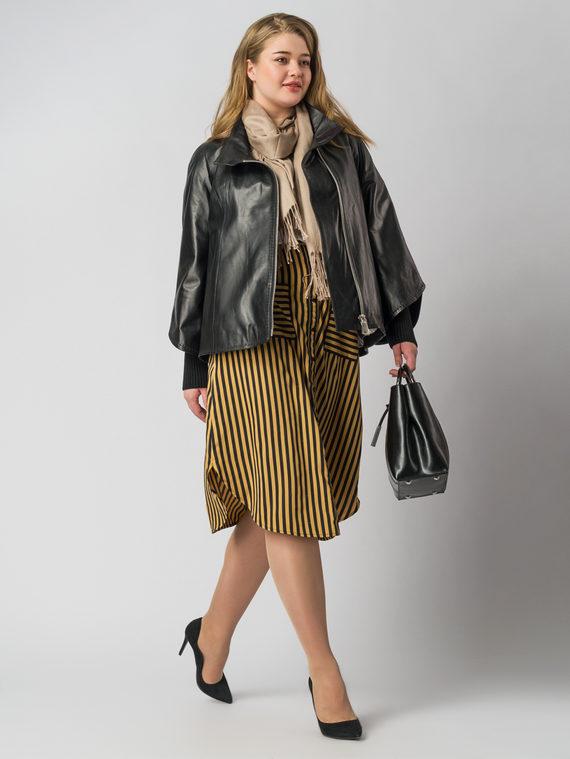 Кожаная куртка кожа , цвет черный, арт. 18005875  - цена 13390 руб.  - магазин TOTOGROUP