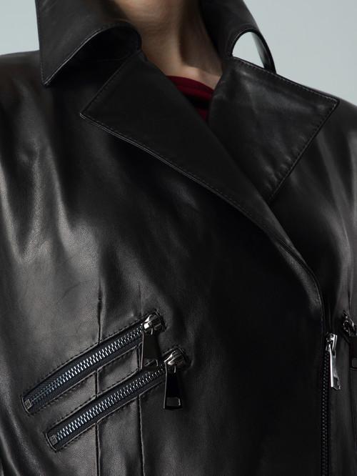 Кожаная куртка артикул 18005877/44 - фото 4