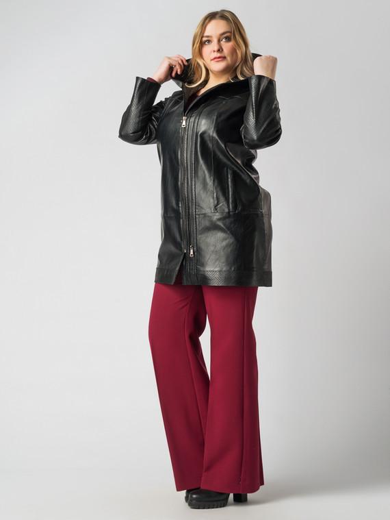 Кожаное пальто эко кожа 100% П/А, цвет черный, арт. 18005887  - цена 6630 руб.  - магазин TOTOGROUP