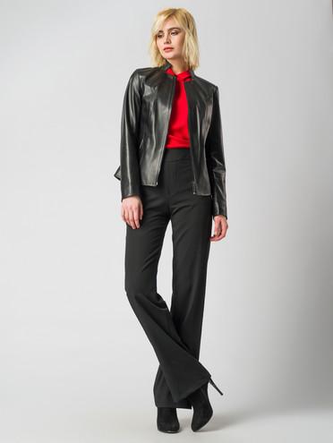 Кожаная куртка кожа, цвет черный, арт. 18005900  - цена 5890 руб.  - магазин TOTOGROUP
