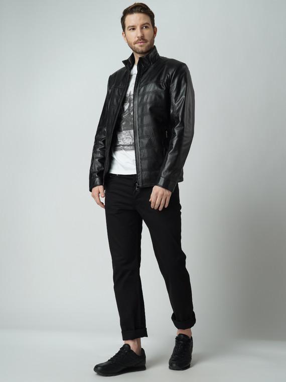 Кожаная куртка кожа баран, цвет черный, арт. 18005908  - цена 8990 руб.  - магазин TOTOGROUP