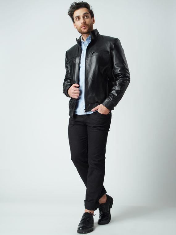 Кожаная куртка кожа баран, цвет черный, арт. 18005909  - цена 9990 руб.  - магазин TOTOGROUP