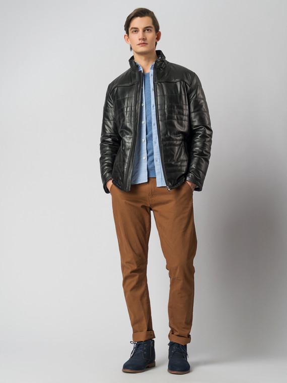 Кожаная куртка кожа , цвет черный, арт. 18005911  - цена 11290 руб.  - магазин TOTOGROUP