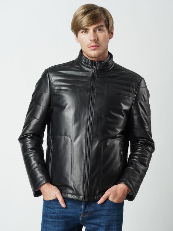 Кожаная куртка кожа , цвет черный, арт. 18005913  - цена 8990 руб.  - магазин TOTOGROUP