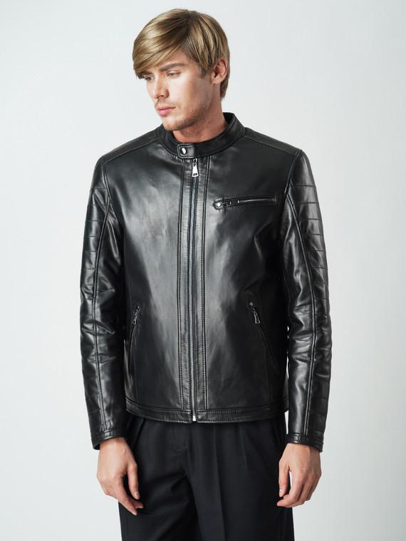 Кожаная куртка кожа , цвет черный, арт. 18005914  - цена 11290 руб.  - магазин TOTOGROUP