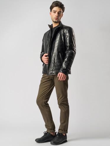 Кожаная куртка кожа , цвет черный, арт. 18005940  - цена 13390 руб.  - магазин TOTOGROUP