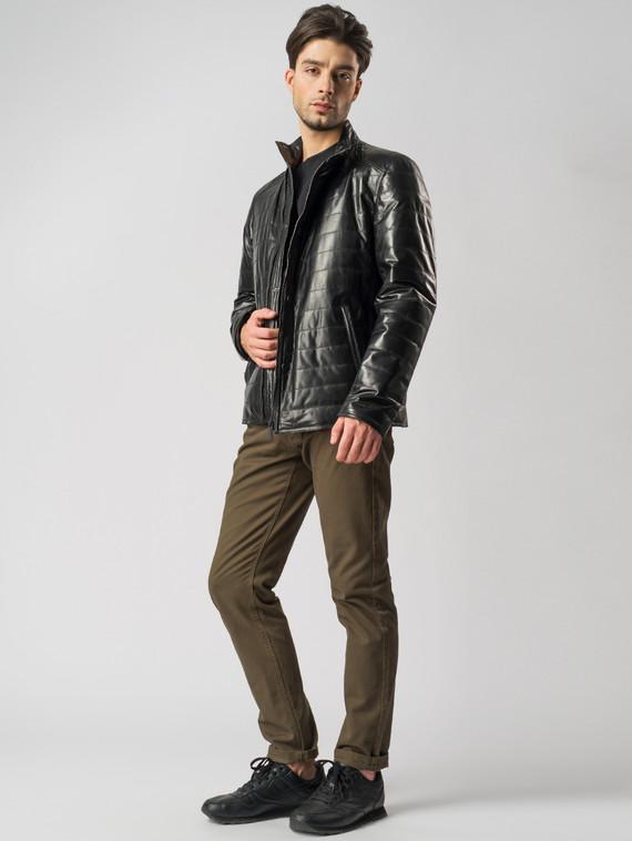 Кожаная куртка кожа , цвет черный, арт. 18005940  - цена 11990 руб.  - магазин TOTOGROUP