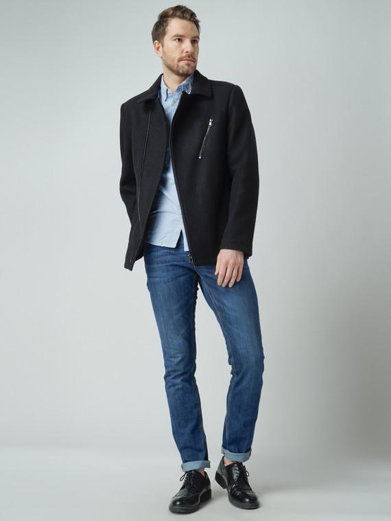 Текстильная куртка 51% п/э,49%шерсть, цвет черный, арт. 18005944  - цена 6290 руб.  - магазин TOTOGROUP