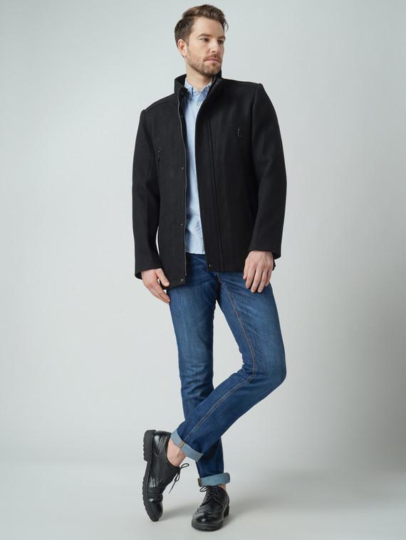 Текстильная куртка 51% п/э,49%шерсть, цвет черный, арт. 18005949  - цена 4490 руб.  - магазин TOTOGROUP