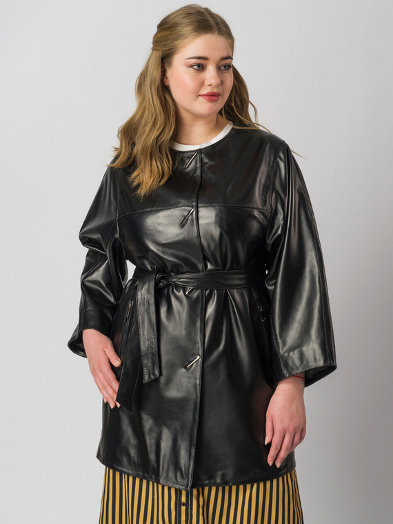 Кожаная куртка кожа баран, цвет черный, арт. 18005982  - цена 9490 руб.  - магазин TOTOGROUP