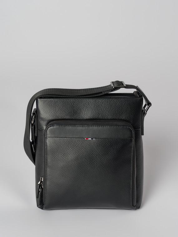 Сумка кожа флоттер, цвет черный, арт. 18006028  - цена 5590 руб.  - магазин TOTOGROUP