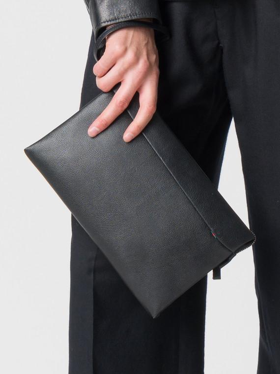 Сумка кожа флоттер, цвет черный, арт. 18006033  - цена 4490 руб.  - магазин TOTOGROUP