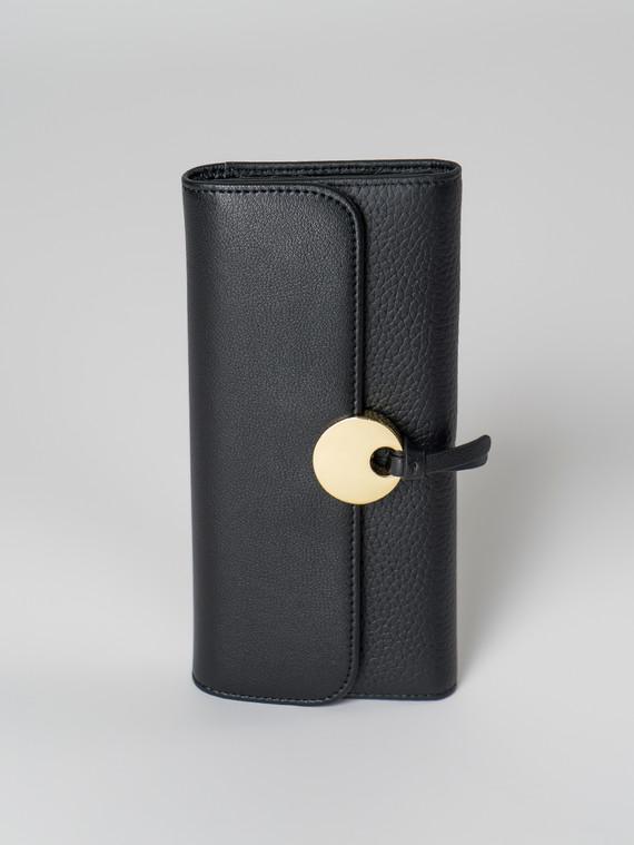Кошелек кожа флоттер, цвет черный, арт. 18006039  - цена 2290 руб.  - магазин TOTOGROUP