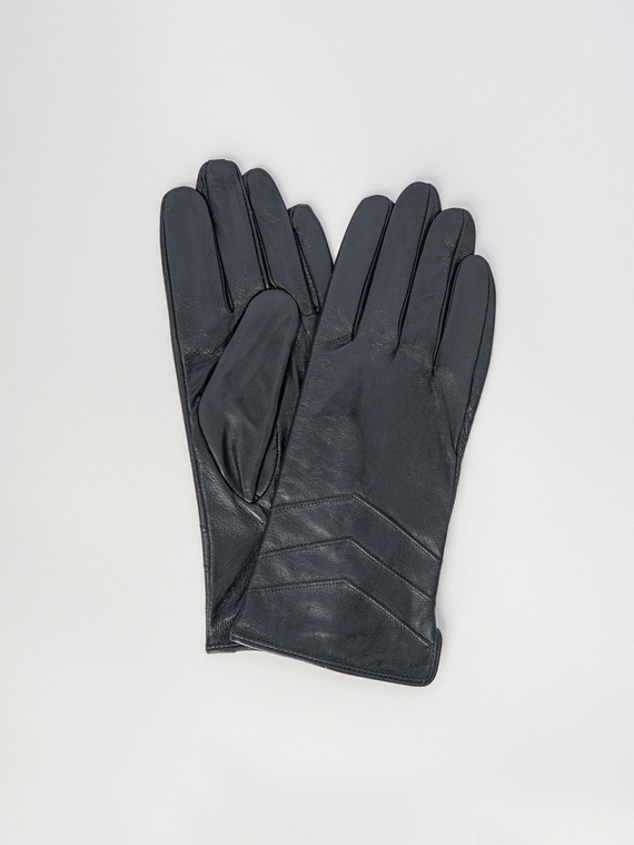 Перчатки кожа , цвет черный, арт. 18006084  - цена 990 руб.  - магазин TOTOGROUP