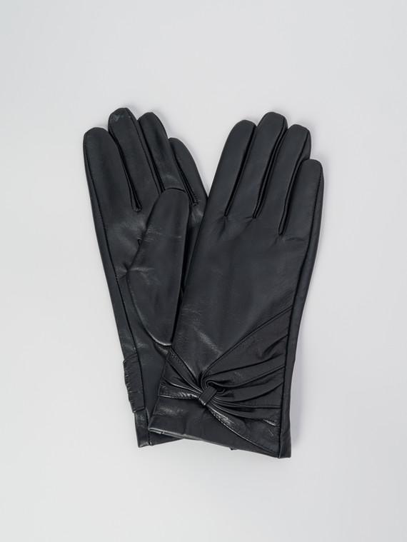 Перчатки кожа , цвет черный, арт. 18006085  - цена 1490 руб.  - магазин TOTOGROUP