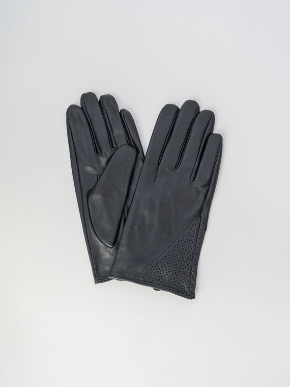 Перчатки кожа , цвет черный, арт. 18006086  - цена 1490 руб.  - магазин TOTOGROUP