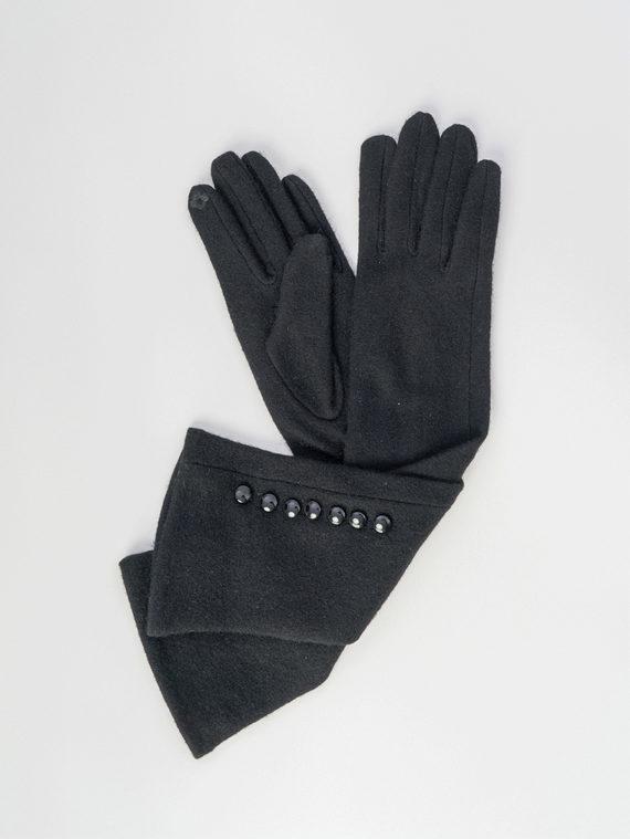 Перчатки Шерсть, цвет черный, арт. 18006092  - цена 940 руб.  - магазин TOTOGROUP