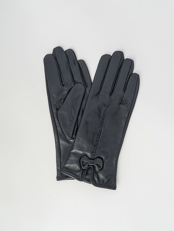 Перчатки кожа , цвет черный, арт. 18006093  - цена 1130 руб.  - магазин TOTOGROUP