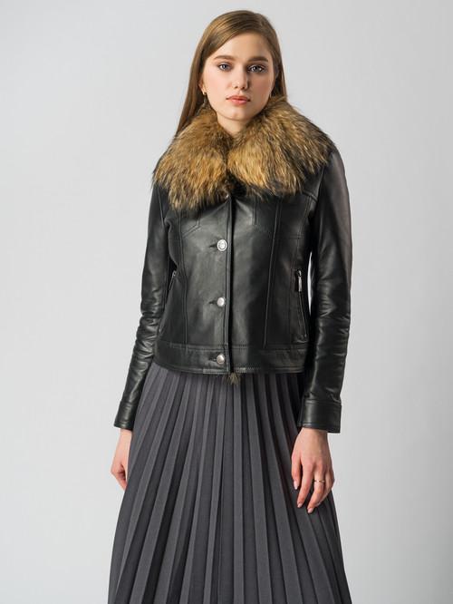 Кожаная куртка артикул 18006106/44 - фото 2