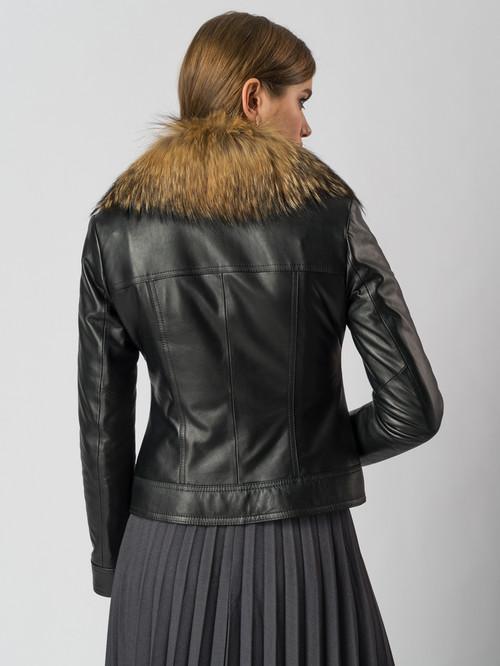 Кожаная куртка артикул 18006106/44 - фото 3