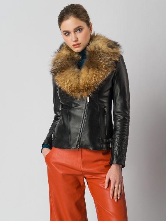 Кожаная куртка кожа , цвет черный, арт. 18006108  - цена 14990 руб.  - магазин TOTOGROUP