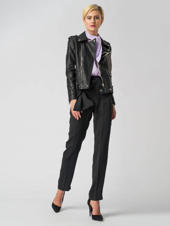 Кожаная куртка эко кожа 100% П/А, цвет черный, арт. 18006125  - цена 4260 руб.  - магазин TOTOGROUP