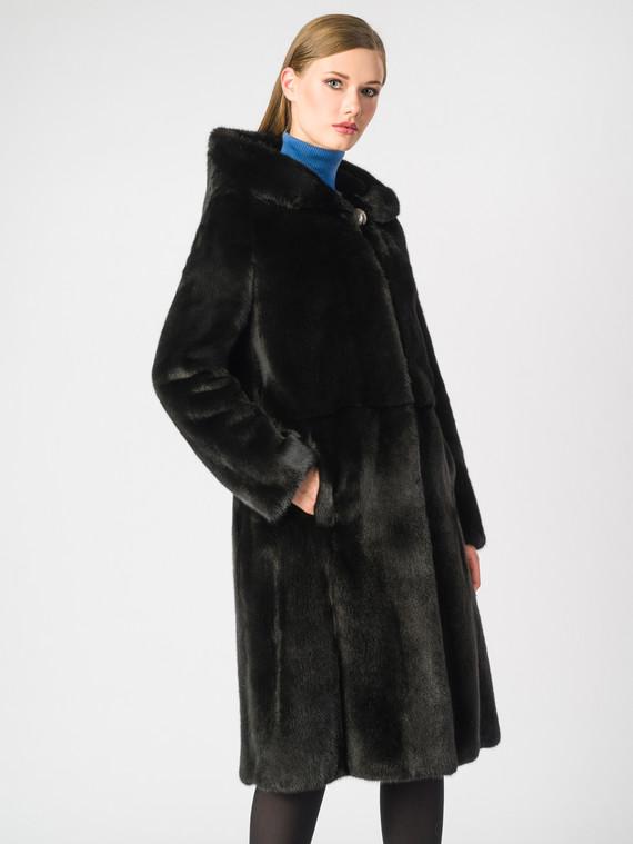 Шуба из норки мех норка, цвет черный, арт. 18006131  - цена 149990 руб.  - магазин TOTOGROUP