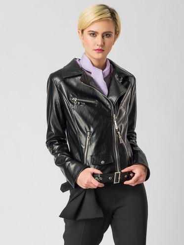 Кожаная куртка эко-кожа флоттер, цвет черный, арт. 18006134  - цена 4740 руб.  - магазин TOTOGROUP