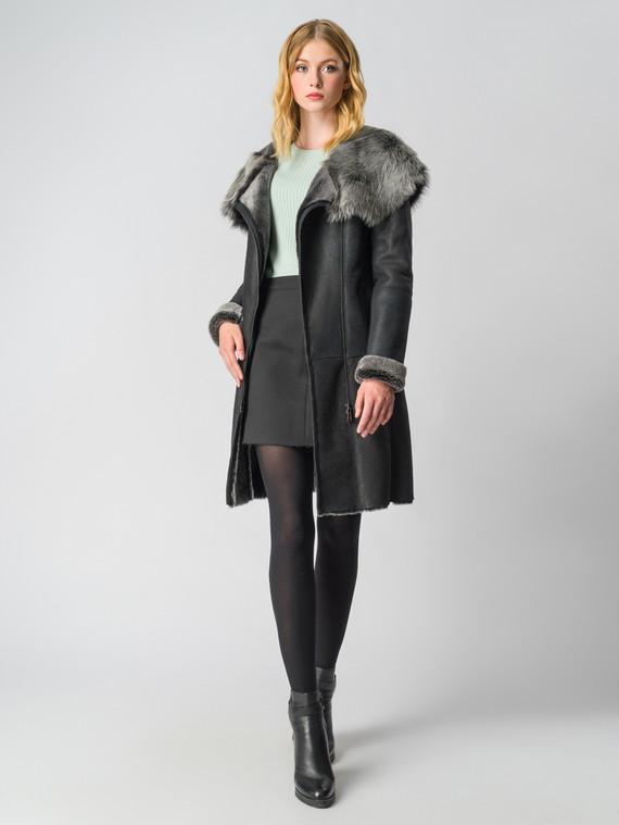 Дубленка дуб. овчина, цвет черный, арт. 18006164  - цена 22690 руб.  - магазин TOTOGROUP