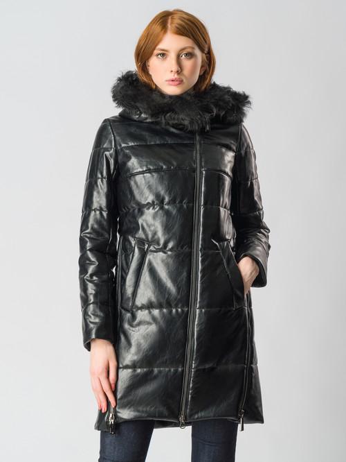 Кожаное пальто артикул 18006167/42 - фото 2