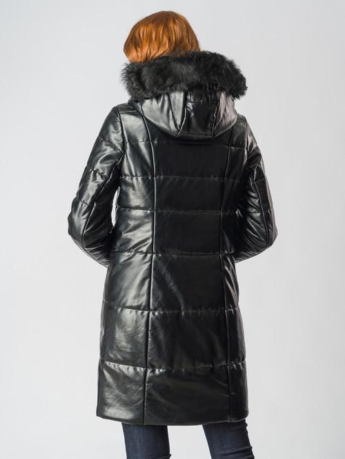 Кожаное пальто артикул 18006167/42 - фото 3