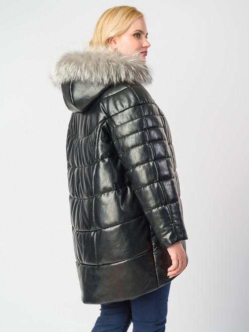 Кожаное пальто артикул 18006187/48 - фото 3