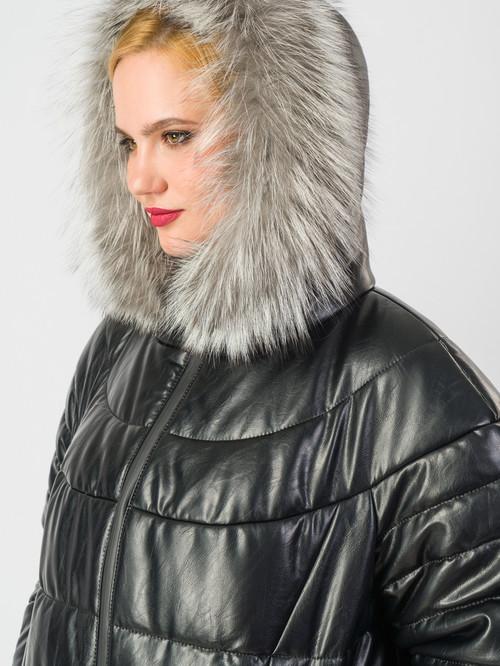 Кожаное пальто артикул 18006187/48 - фото 4