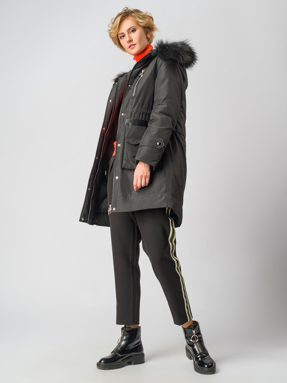 Парка текстиль, цвет черный, арт. 18006201  - цена 14190 руб.  - магазин TOTOGROUP