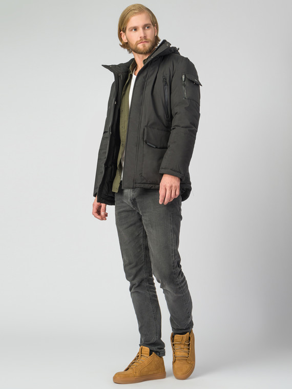Пуховик текстиль, цвет черный, арт. 18006328  - цена 6630 руб.  - магазин TOTOGROUP