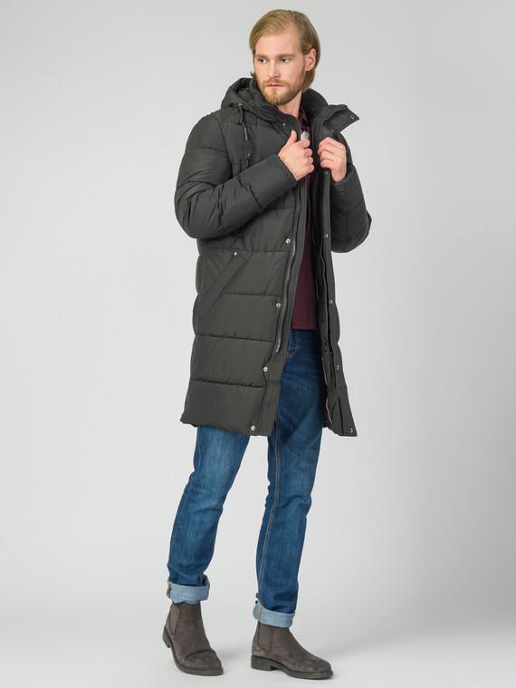 Пуховик текстиль, цвет темно-синий, арт. 18006329  - цена 5890 руб.  - магазин TOTOGROUP