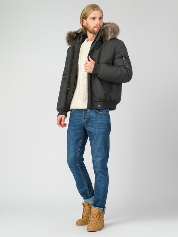 Пуховик текстиль, цвет черный, арт. 18006330  - цена 2550 руб.  - магазин TOTOGROUP
