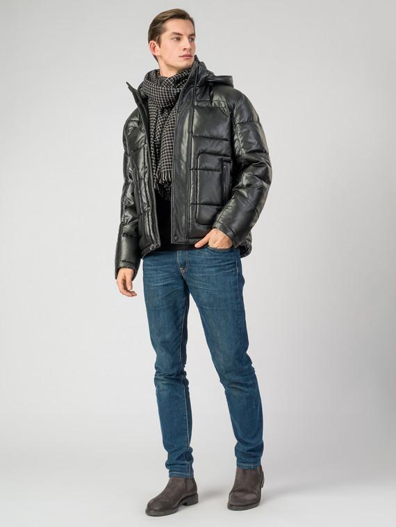 Кожаная куртка эко-кожа 100% П/А, цвет черный, арт. 18006343  - цена 6290 руб.  - магазин TOTOGROUP