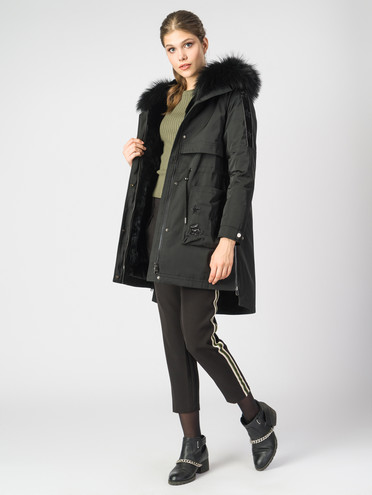 Пуховик текстиль, цвет черный, арт. 18006375  - цена 37990 руб.  - магазин TOTOGROUP