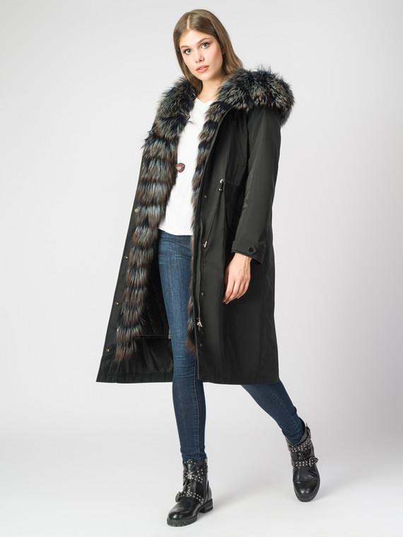 Парка текстиль, цвет черный, арт. 18006376  - цена 47490 руб.  - магазин TOTOGROUP