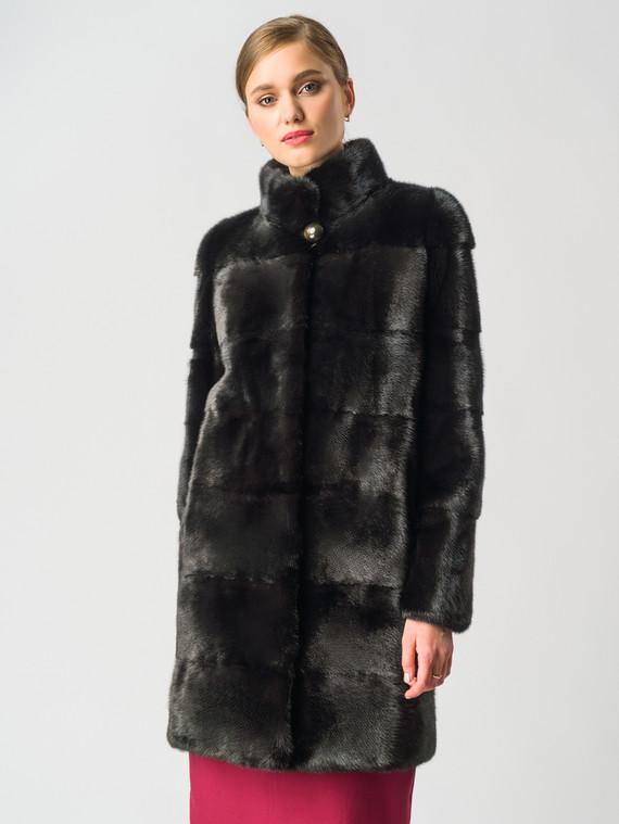 Шуба из норки мех норка, цвет черный, арт. 18006384  - цена 94990 руб.  - магазин TOTOGROUP