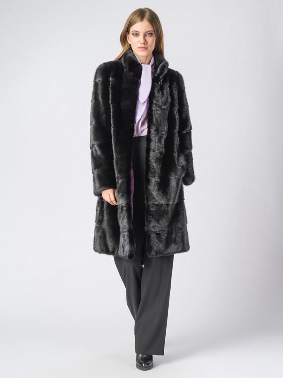 Шуба из норки мех норка, цвет черный, арт. 18006386  - цена 59990 руб.  - магазин TOTOGROUP