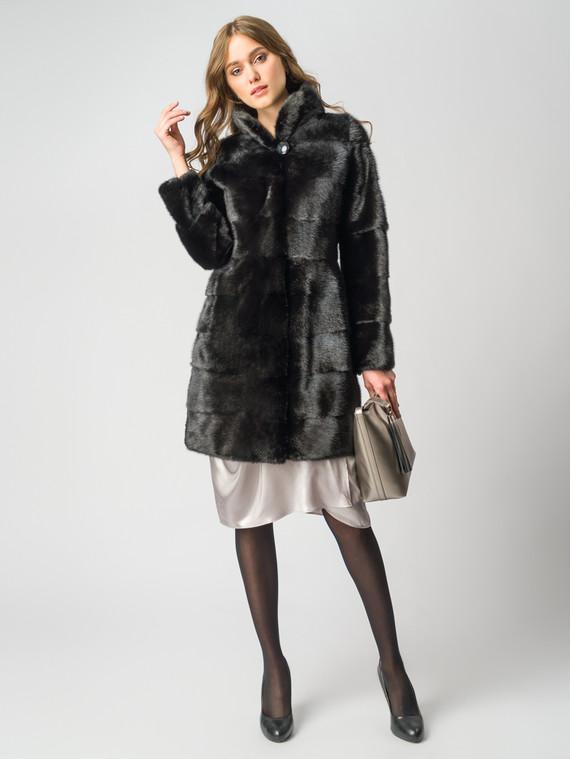 Шуба из норки мех норка, цвет черный, арт. 18006387  - цена 59990 руб.  - магазин TOTOGROUP