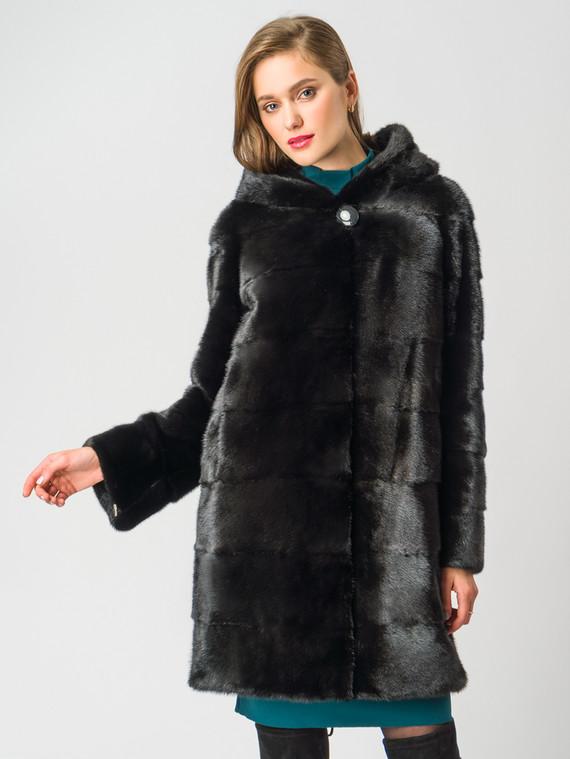 Шуба из норки мех норка, цвет черный, арт. 18006388  - цена 99990 руб.  - магазин TOTOGROUP